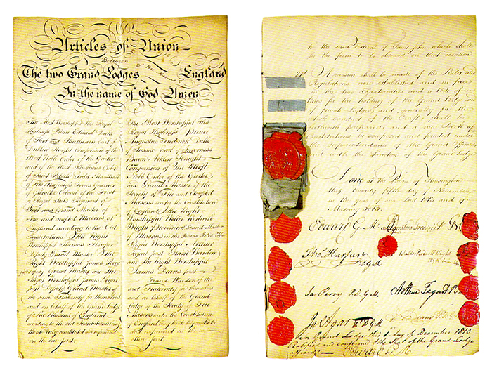 Primera y última página del acuerdo firmado por Antiguos y Modernos eL 27 de diciembre de 1813=
